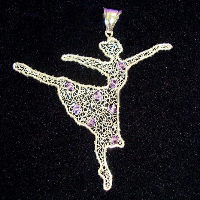 Ciondolo Ballerina Argento 925 cristalli swarovski