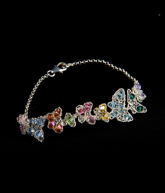 Farfalline – Bracciale con cristalli Swarovski