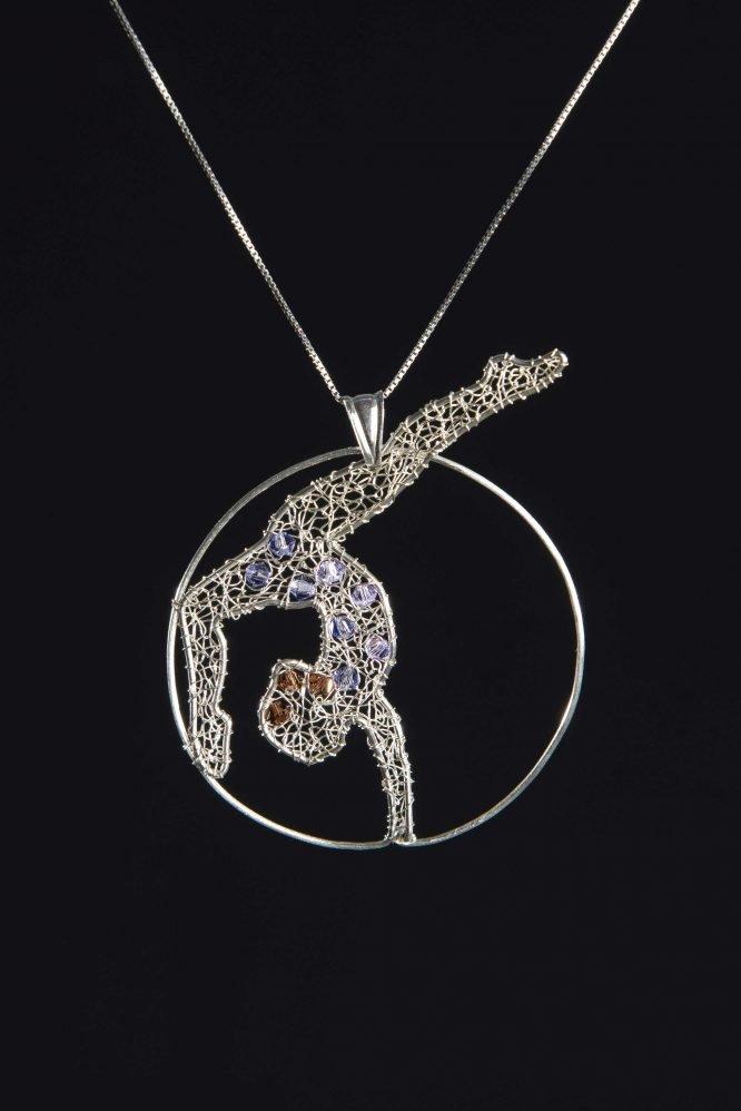 Ginnasta - Ciondolo per collana con cristalli Swarovski