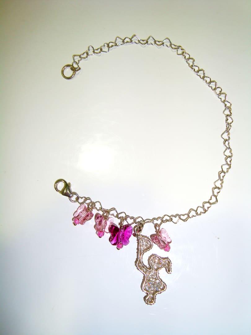 a basso prezzo f55ef f4d2d Rincorri le farfalle - Bracciale con cristalli Swarovski